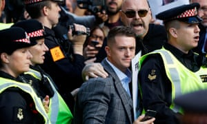Tommy Robinson's live video, outside Leeds crown court, was viewed on Facebook