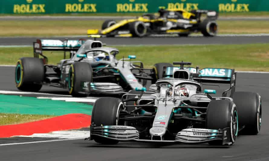 Lewis Hamilton and Valtteri Bottas in action at last year's British Grand Prix at Silverstone. A decision has not been made about this year's event.