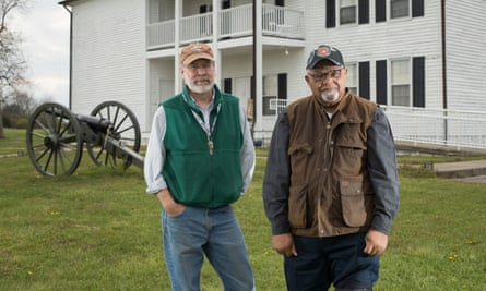 Dr Stephen McBride and Jim Hunn at Camp Nelson, a civil war site which may soon become a national monument.