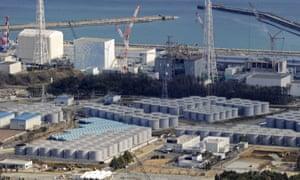 Water storage tanks at Fukushima nuclear plant
