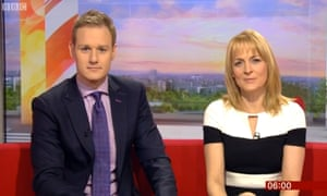 Dan Walker (who earns up to £249,000) and Louise Minchin (who earns less than £150,000).