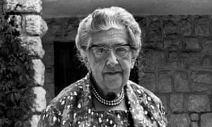Agatha Christie, pictured in the late 1960s.