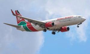 A Kenya Airways jet