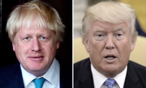 Boris Johnson (left) and the US president.
