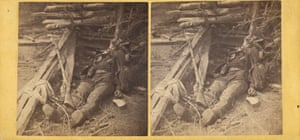 A dead Confederate soldier, after the Battle of the 19th May near Mrs Allsop's Pine Forest, Virginia, 1864