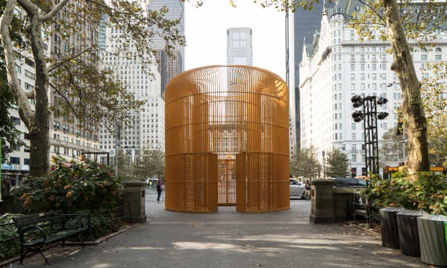 A gilded cage that makes up part of Ai Weiwei's Good Fences Make Good Neighbors project.