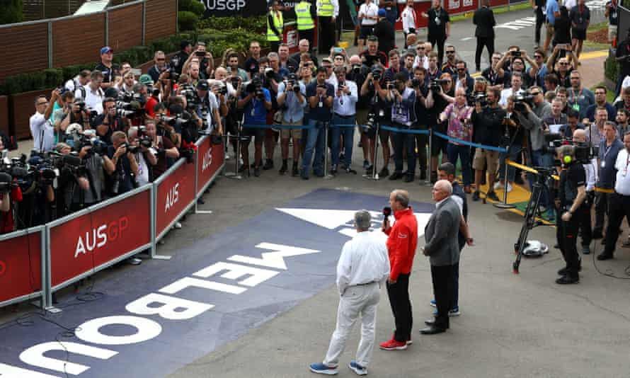 A press conference is held in Melbourne after the F1 Australian GP was cancelled.