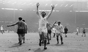Jeff Astle celebrates scoring the winning goal in West Brom's FA cup final win over Everton in 1968.