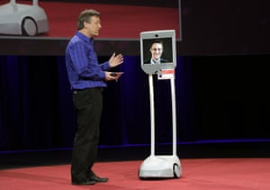 Edward Snowden at a TED talk via the BeamPro.