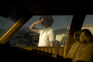 Car, Window (Self-portrait), 2018, by Tania Franco Klein, from her series Proceed to the Route.