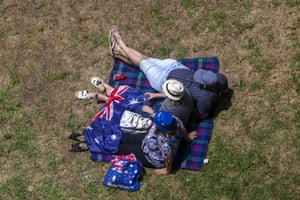 People celebrate Australia Day at The Rocks in Sydney.