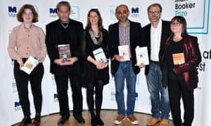 Unusual suspects … the 2017 Man Booker Prize shortlist: (from left) Fiona Mozley, Paul Auster, Emily Fridlund, Mohsin Hamid, George Saunders, Ali Smith.