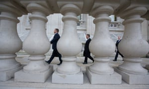 Civil servants in Whitehall, London