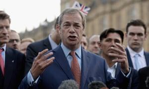 Nigel Farage hails the referendum result