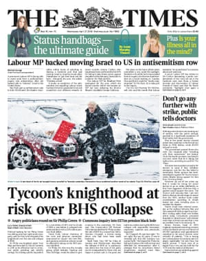 The Times, first edition - 27 April 2016