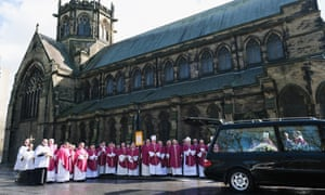 Members of the Catholic church outside St Michael's church in Newcastle