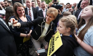 General Election 2017First Minister and SNP leader Nicola Sturgeon during an event at the Malmaison Hotel in Edinburgh while on the last day of campaigning for the General Election. PRESS ASSOCIATION Photo. Picture date: Wednesday June 7, 2017. See PA story ELECTION Main. Photo credit should read: Jane Barlow/PA Wire