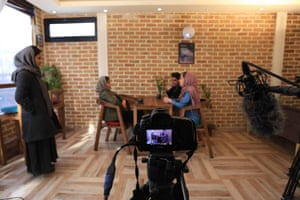 Filming the show Roya