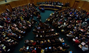 A meeting of the general synod in London.