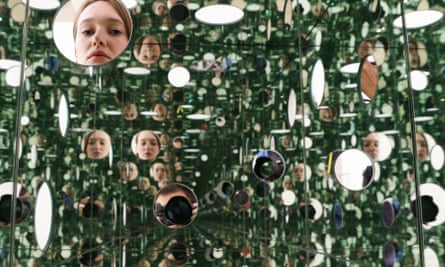 A work by Yayoi Kusama, in the Tate Modern's Switch House extension.