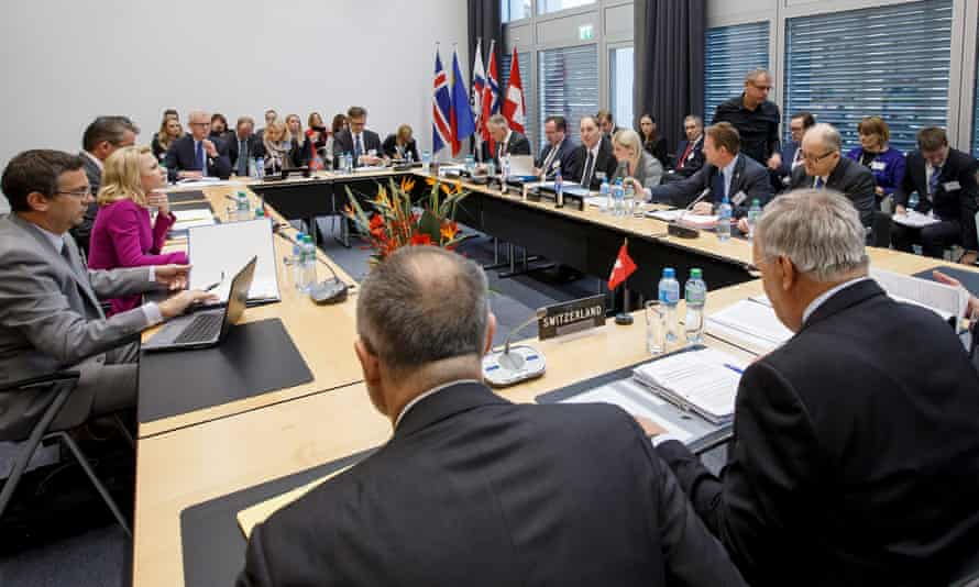 An EFTA ministerial meeting in Geneva, Switzerland.