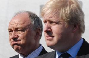 Livingstone and his successor as London mayor, Boris Johnson.