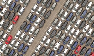 Cars in a distribution yard