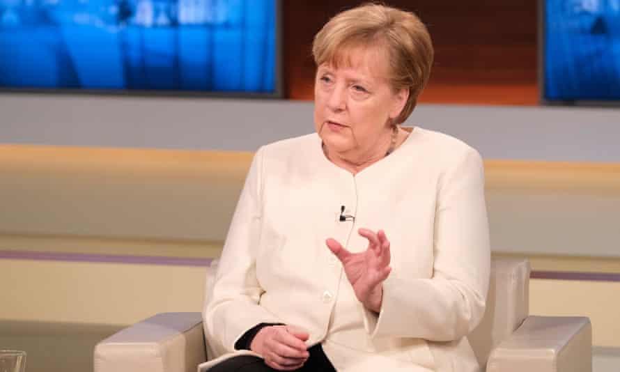 Angela Merkel on the Anne Will talkshow on Sunday.