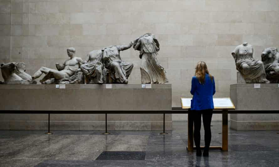 The Parthenon marbles at the British Museum.