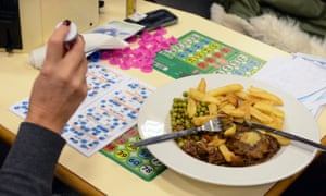 A Mecca Bingo player with a meal