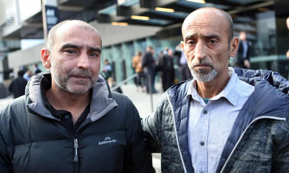 Omar Nabi, right, and Yama Nabi, who lost their father Daoud Nabi in the attack on Al Noor mosque.