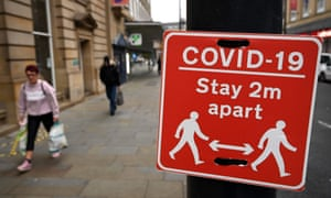 A sign displaying COVID-19 guidelines, in Bradford, west Yorkshire, as England prepares for a four-week lockdown