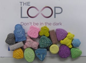 A selection of ecstasy pills seized or handed in at Parklife festival and tested by drugs harm reduction charity The Loop