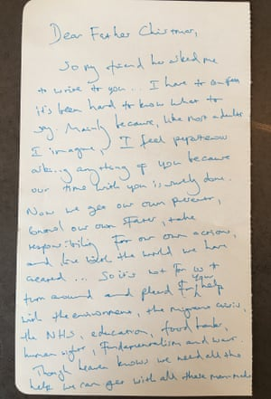 Benedict cumberbatch heads celebrity list writing letters to father benedict cumberbatchs handwritten letter to father christmas spiritdancerdesigns Images