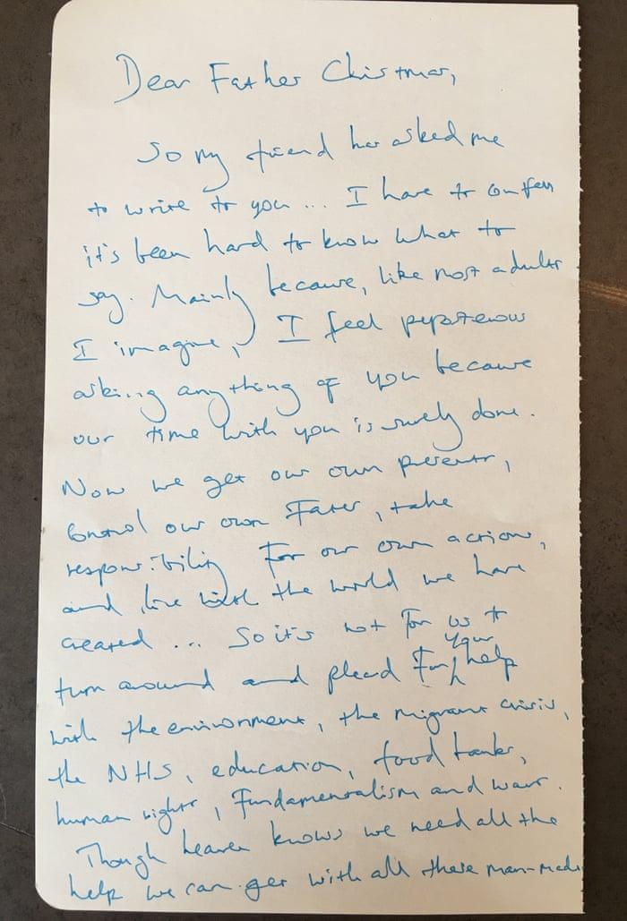 Benedict cumberbatch heads celebrity list writing letters to father benedict cumberbatch heads celebrity list writing letters to father christmas books the guardian spiritdancerdesigns Gallery
