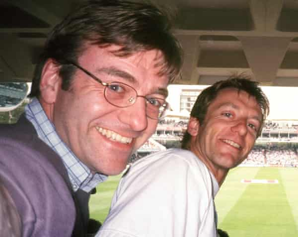Pip, left, and Tom at Lord's cricket ground in London.