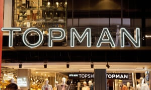 A Topman outlet at a branch of Topshop