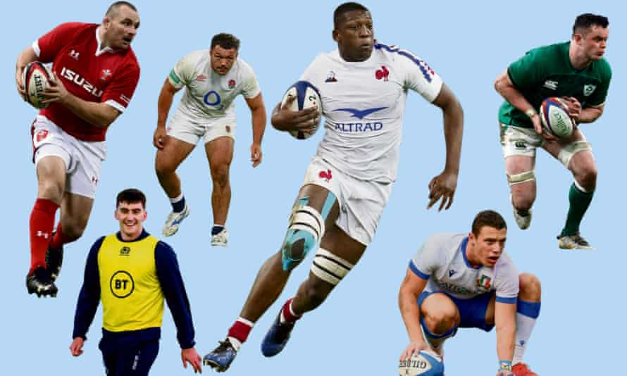 Ken Owens of Wales, Cameron Redpath of Scotland, Ellis Genge of England, Cameron Woki of France, Paolo Garbisi of Italy, James Ryan of Ireland