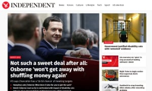 The Independent's website
