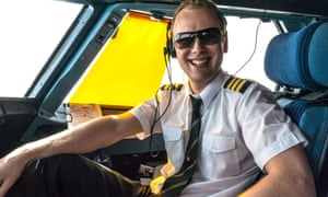 A young airline pilot