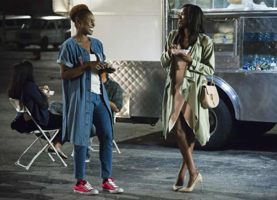 They often speak in slang, where they're free to be the Carefree Black Girls they can't necessarily be in public … Issa Rae and Yvonne Orji in Insecure.