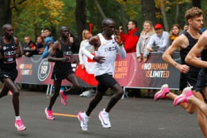 Thousands of fans lined the course in Vienna to cheer on Kipchoge in his historic bid for a sub two-hour marathon.