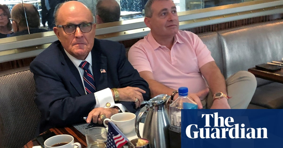 Image result for IMAGES GIULIANI MEETING UKRAINIAN OFFICIAL IN MADRID