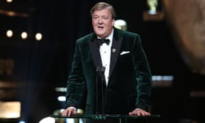 Stephen Fry at the 2016 Baftas. Next year's show will mark his 12th time in that role.