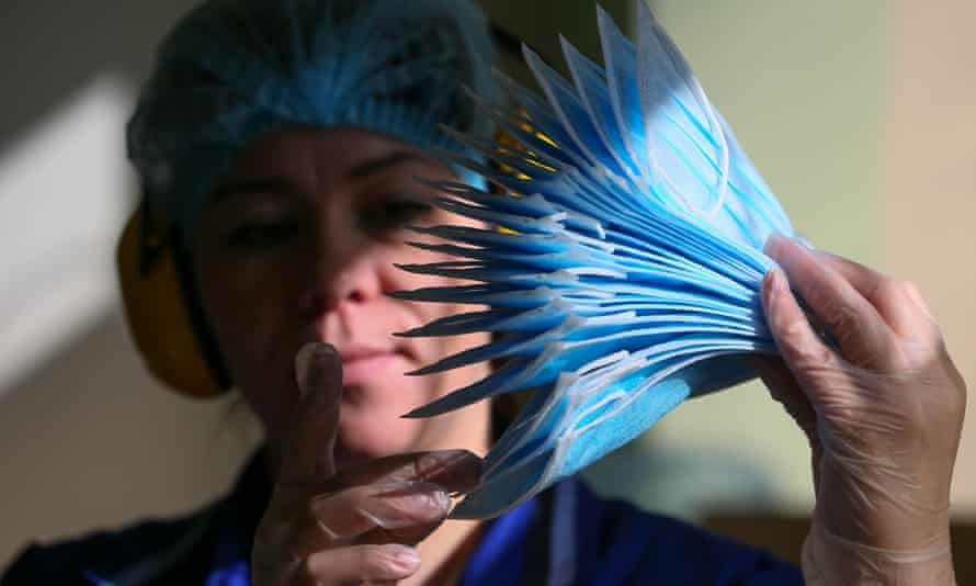 Non-woven masks were found to block nearly all droplets emitted in a cough.