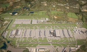 Artist's impression of how Heathrow could look with a third runway. The government is due to deliver its formal response before Christmas to the commission's recommendation to construct a third runway.