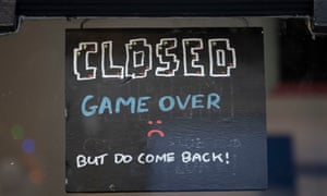 A closed sign in a shop