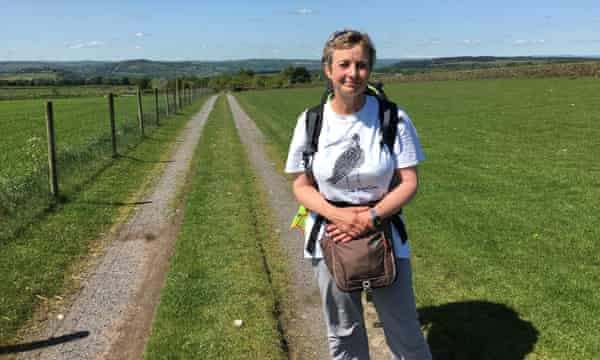 Mary Colwell walked 500 miles to highlight the curlew's plight in UK, 2016.