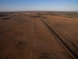 Drought affected pastures near Wyandra, Queensland, Australia.