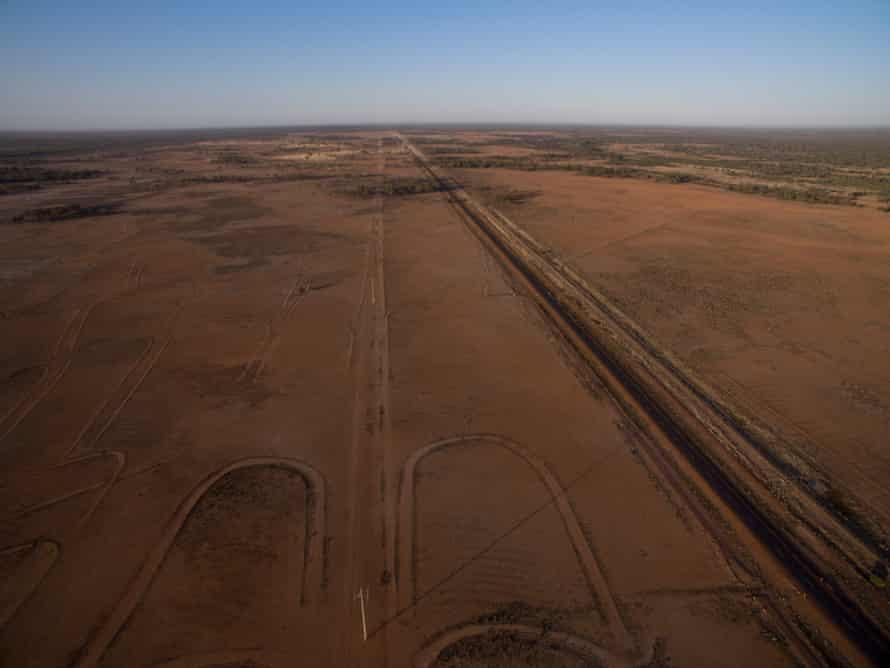 Drought affected pastures near Wyandra, Queensland, Australia.